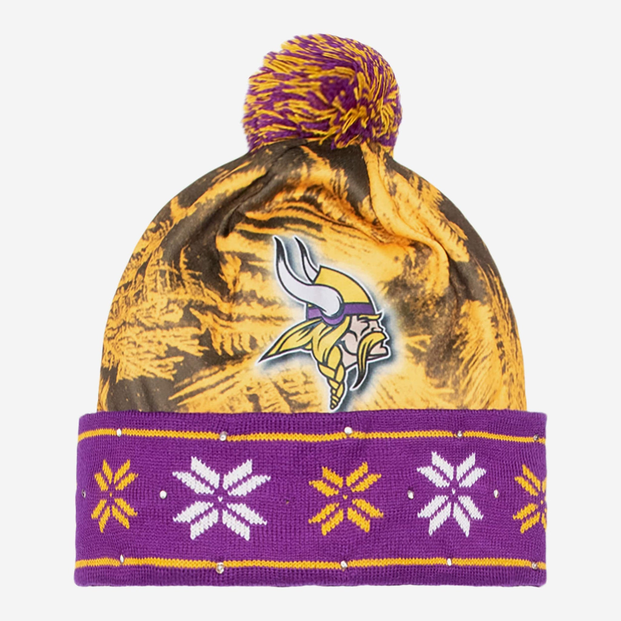 Minnesota Vikings Big Logo Light Up Beanie FOCO - FOCO.com b56c99f41