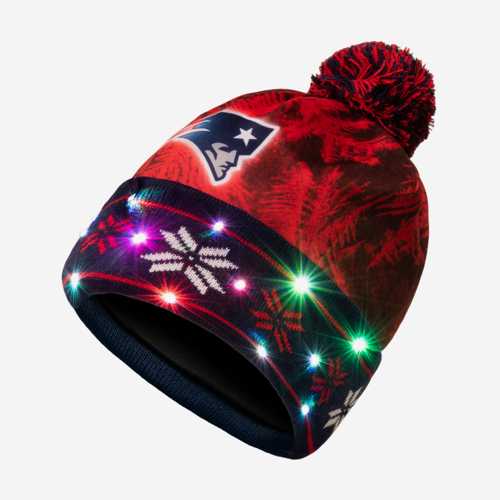 New England Patriots Big Logo Light Up Beanie FOCO - FOCO.com