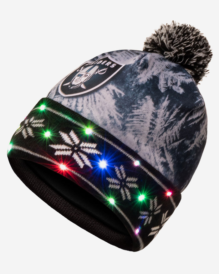 Las Vegas Raiders Big Logo Light Up Beanie FOCO - FOCO.com