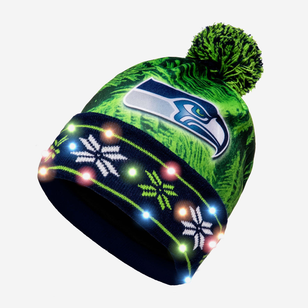 Seattle Seahawks Big Logo Light Up Beanie