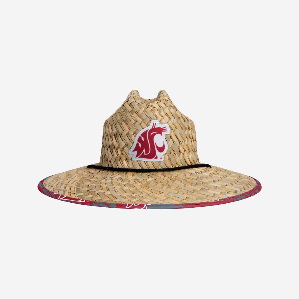 Washington State Cougars Floral Straw Hat FOCO - FOCO.com