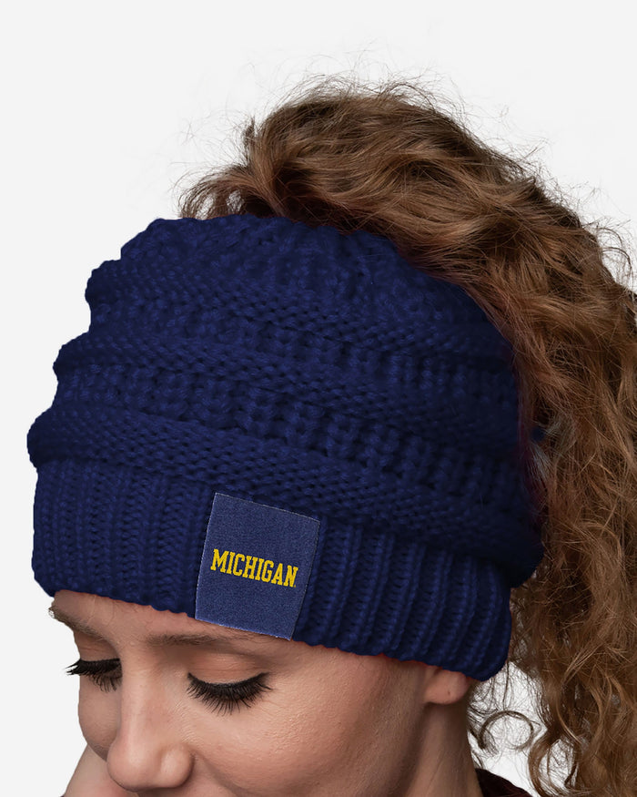 Michigan Wolverines Womens Ponytail Beanie FOCO - FOCO.com