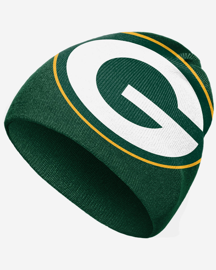 Green Bay Packers Big Logo Skullcap Beanie FOCO - FOCO.com