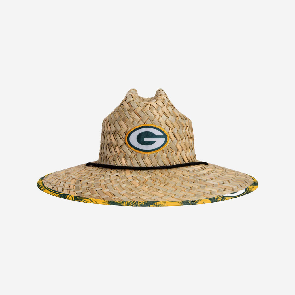 Green Bay Packers Floral Straw Hat FOCO - FOCO.com