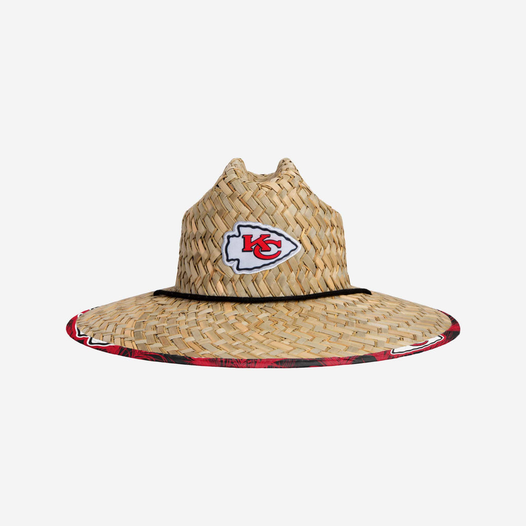 Kansas City Chiefs Floral Straw Hat FOCO - FOCO.com