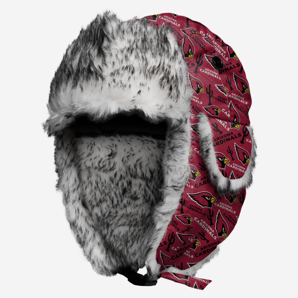 Arizona Cardinals Repeat Print Trapper Hat FOCO - FOCO.com