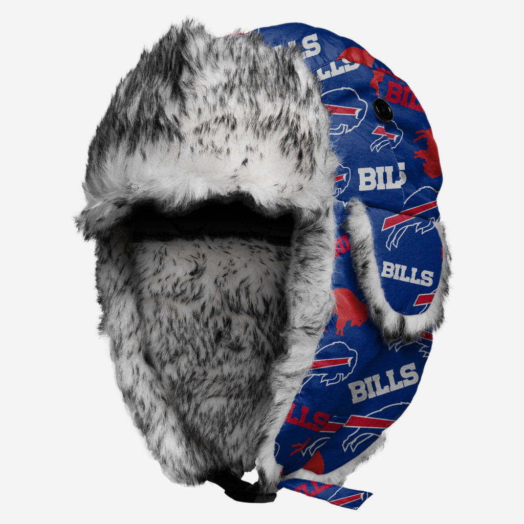 Buffalo Bills Repeat Print Trapper Hat FOCO - FOCO.com