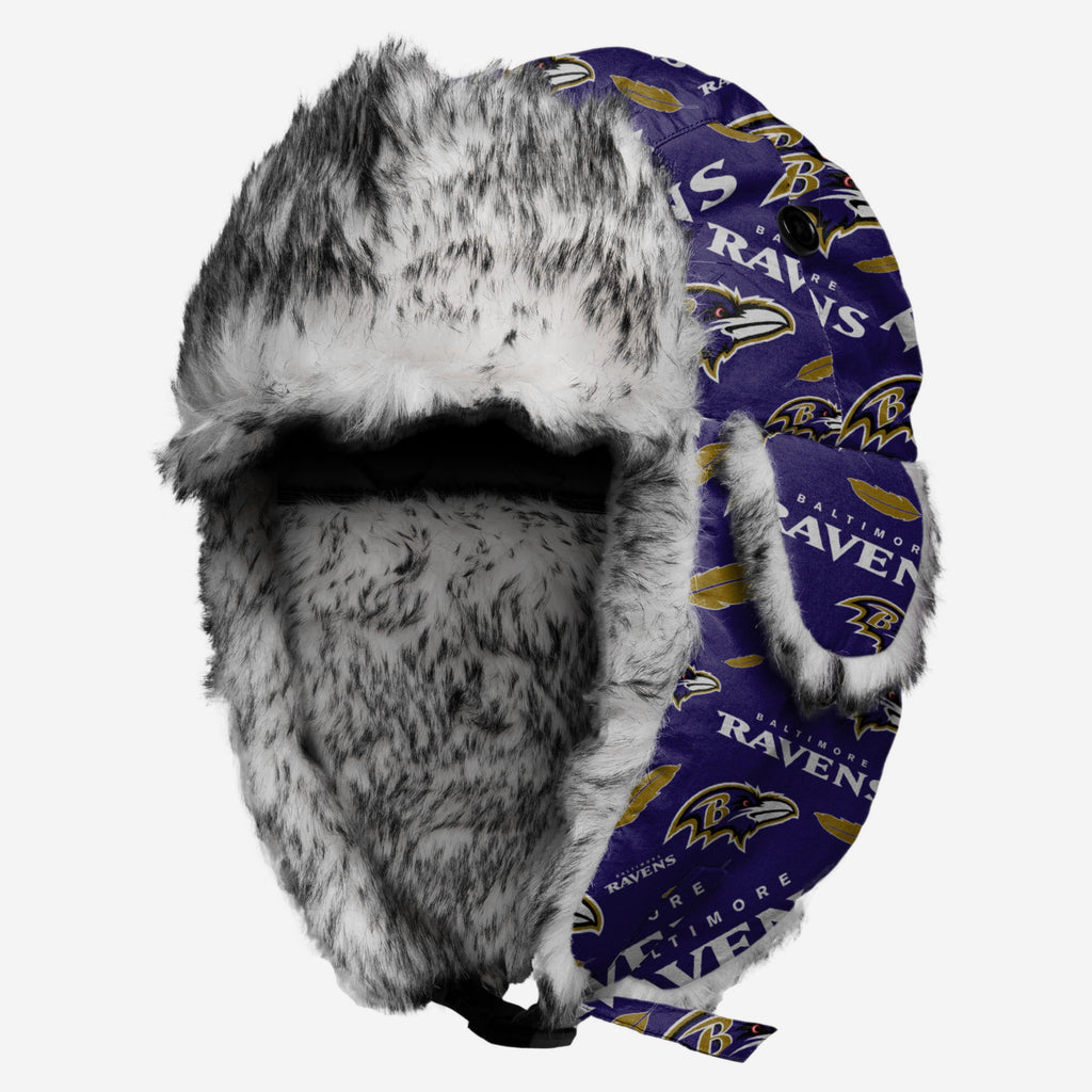 Baltimore Ravens Repeat Print Trapper Hat FOCO - FOCO.com