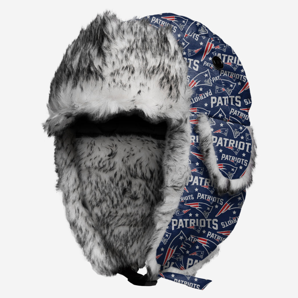 New England Patriots Repeat Print Trapper Hat FOCO - FOCO.com
