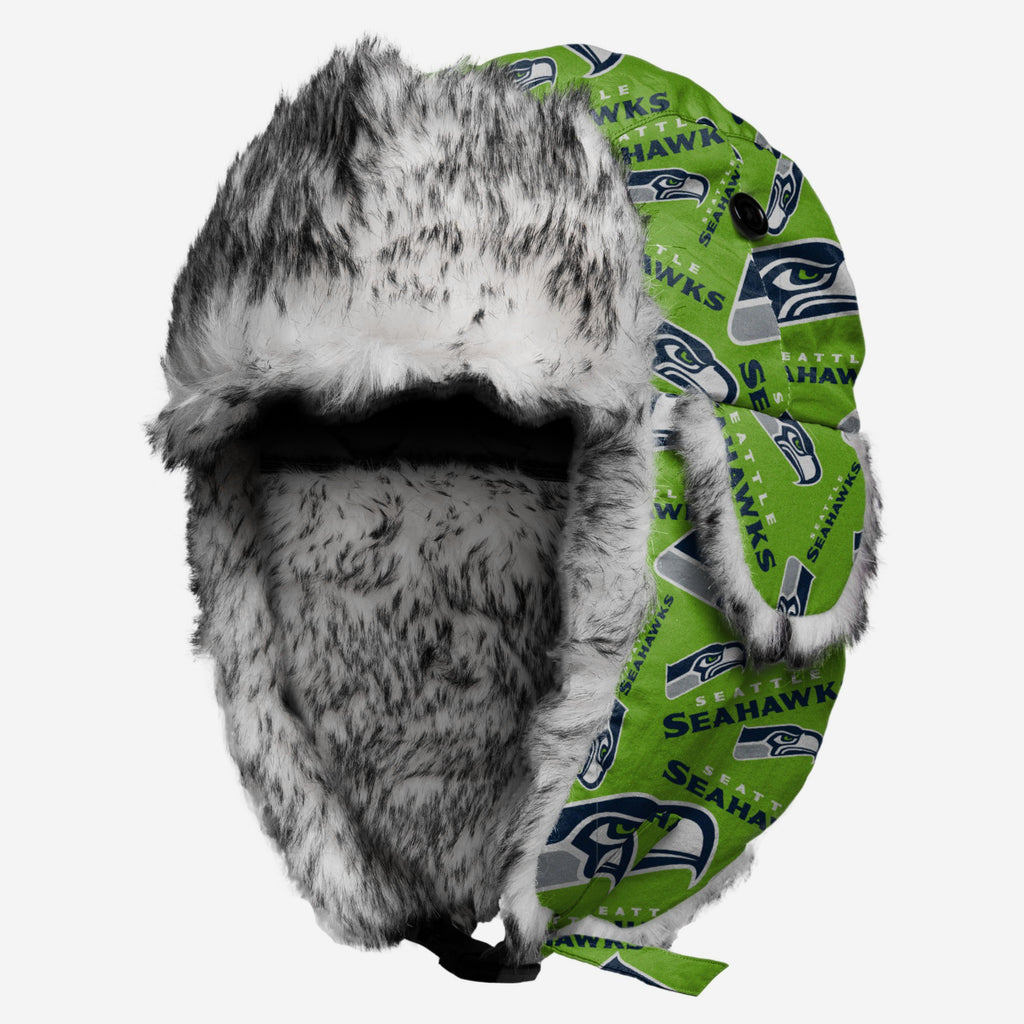 Seattle Seahawks Repeat Print Trapper Hat