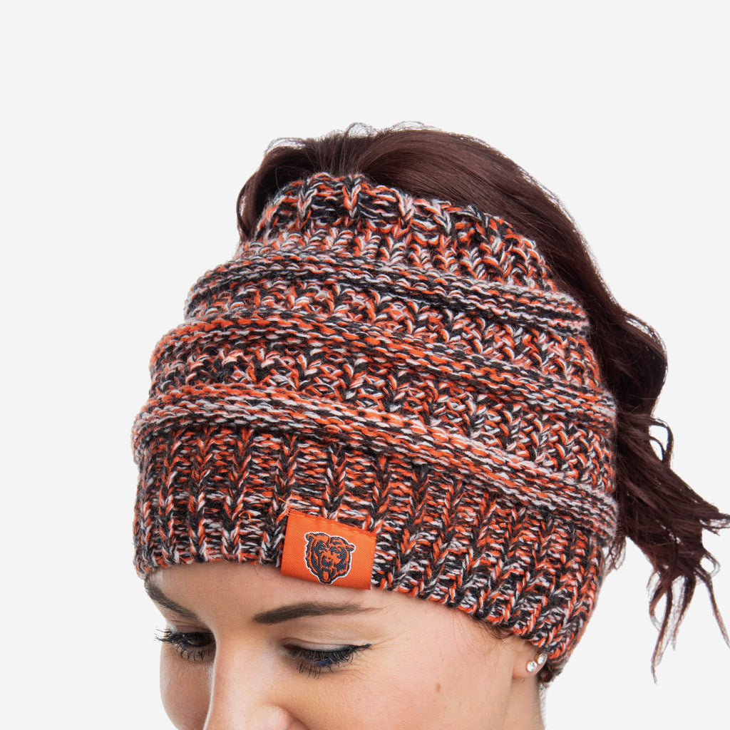 Chicago Bears Womens Color Wave Ponytail Beanie FOCO - FOCO.com