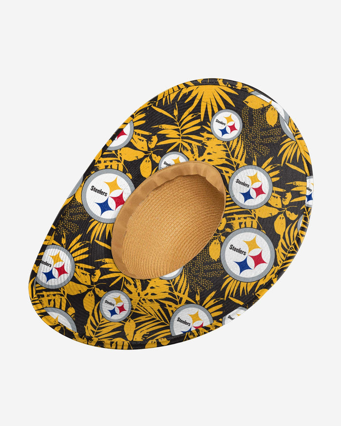 Pittsburgh Steelers Womens Floral Straw Hat FOCO - FOCO.com
