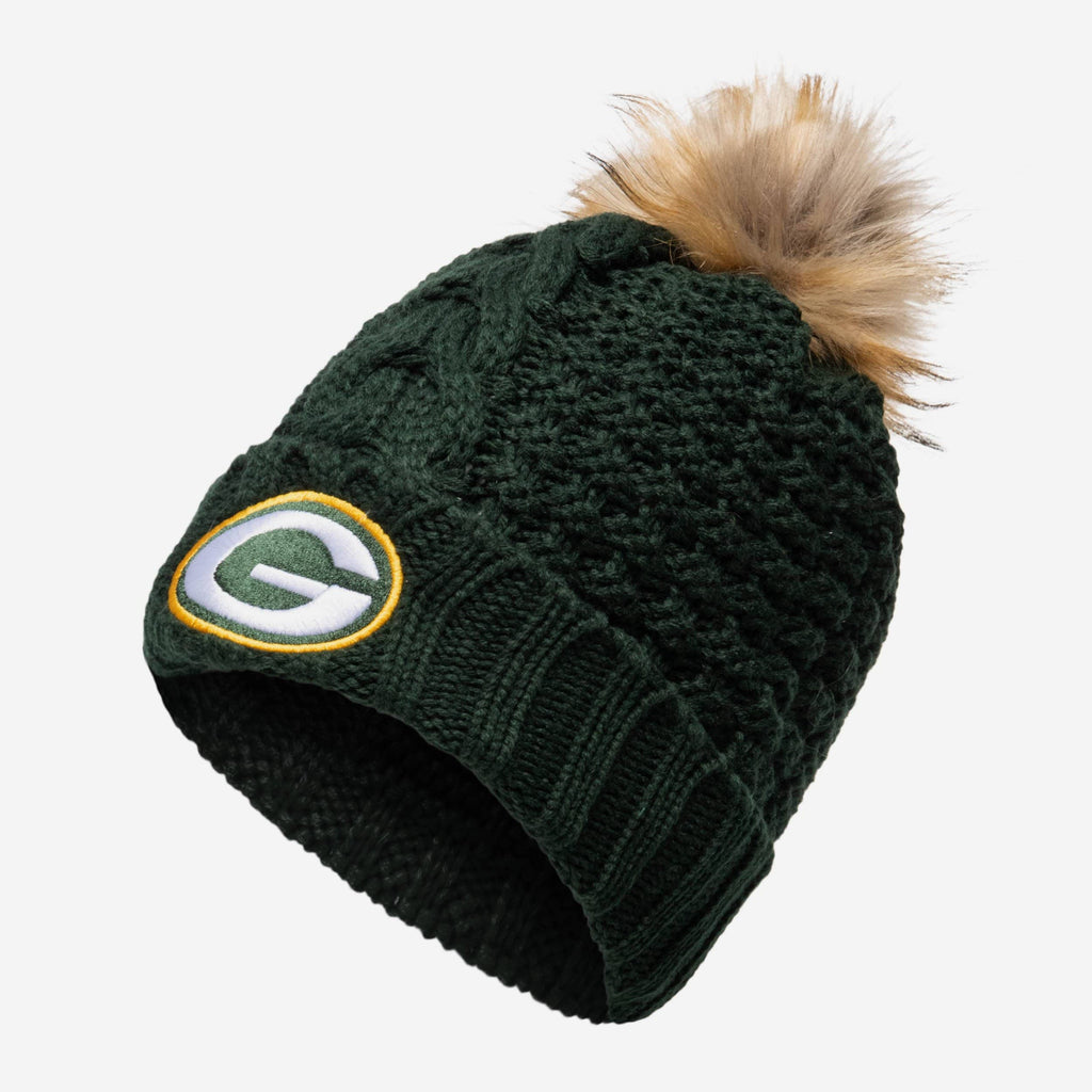 Green Bay Packers Womens Da Pom Beanie FOCO - FOCO.com