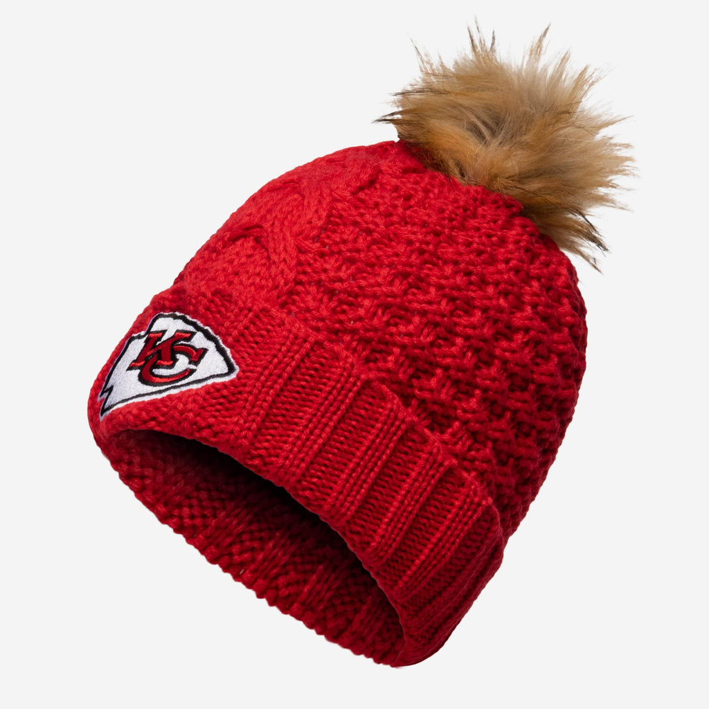 Kansas City Chiefs Womens Da Pom Beanie FOCO - FOCO.com