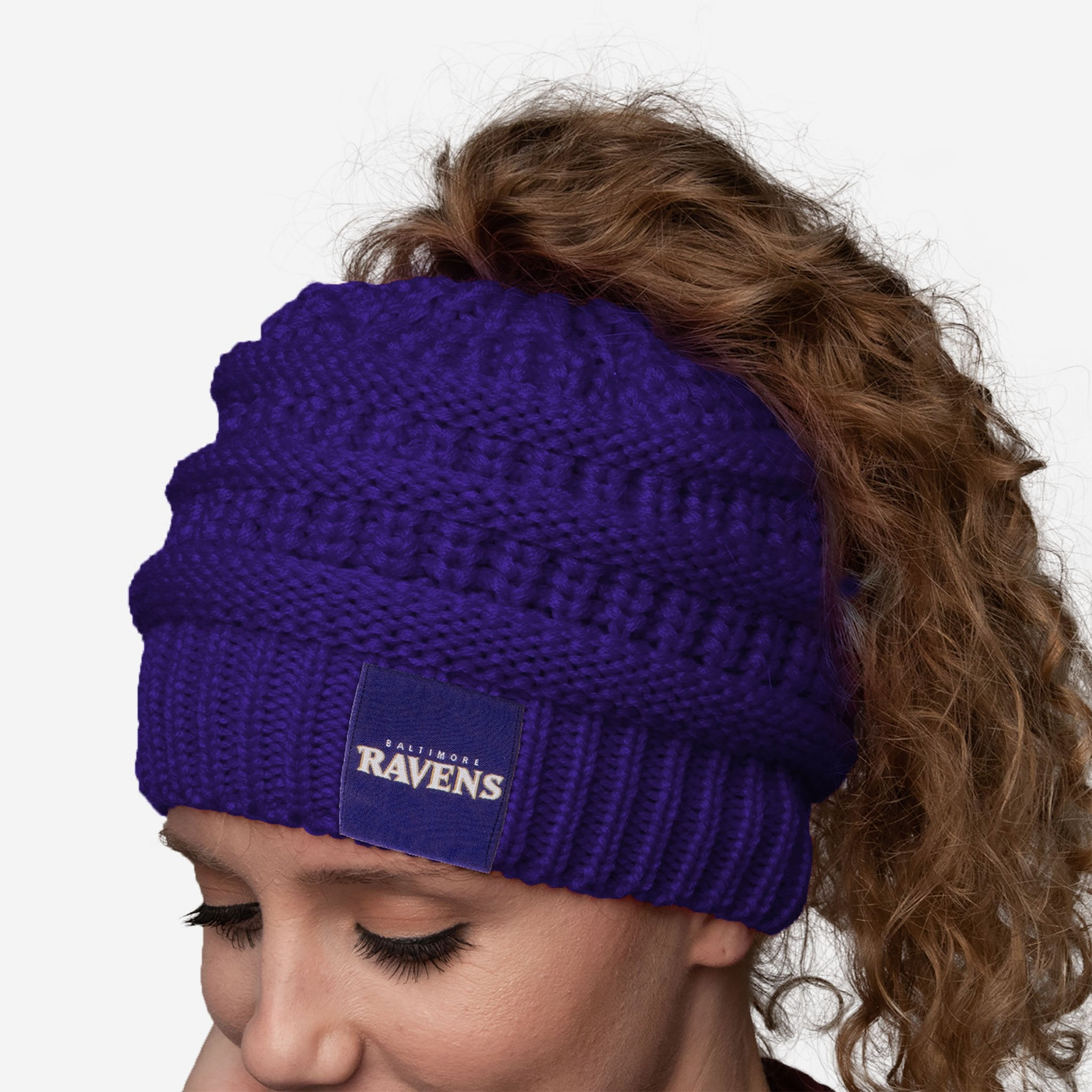 Baltimore Ravens Womens Ponytail Beanie