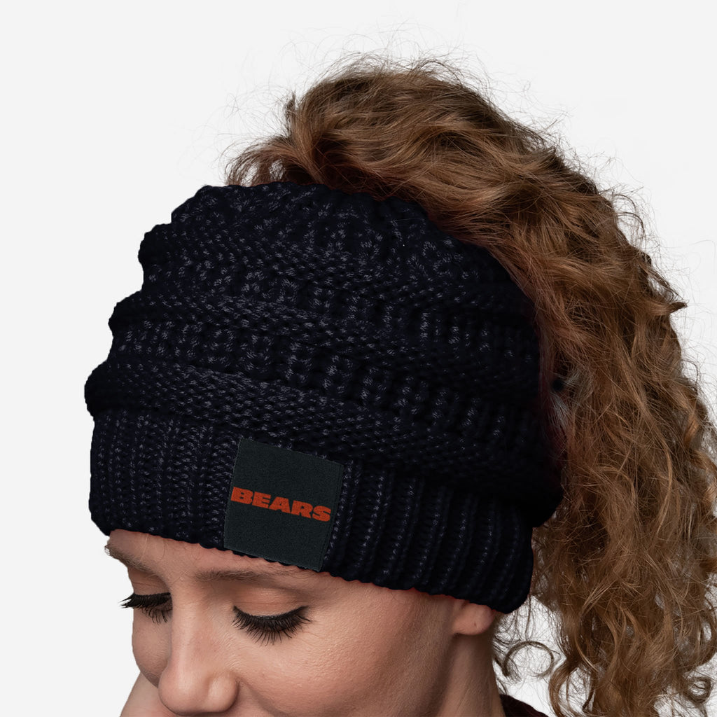 Chicago Bears Womens Ponytail Beanie