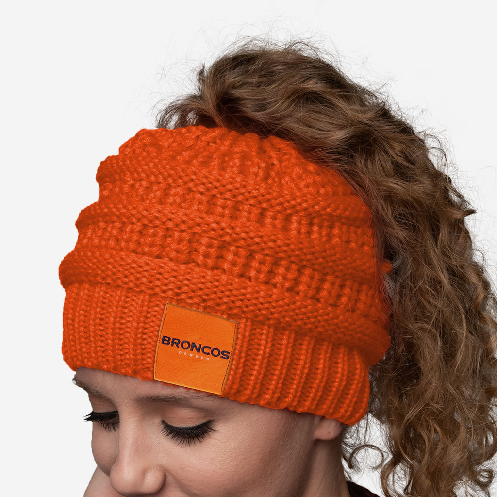 Denver Broncos Womens Ponytail Beanie