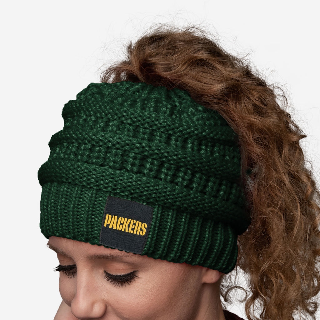 Green Bay Packers Womens Ponytail Beanie
