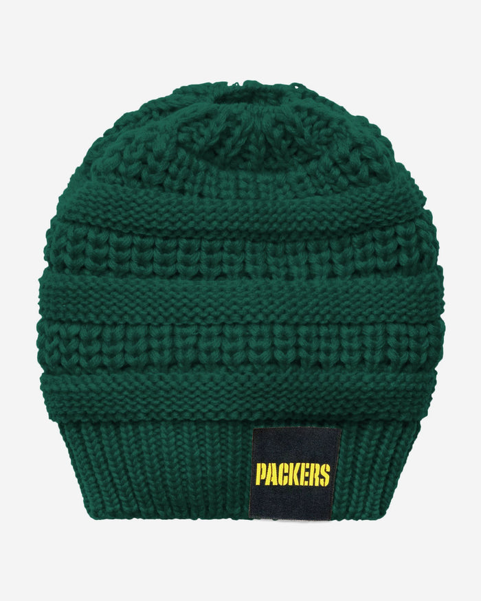 Green Bay Packers Womens Ponytail Beanie FOCO - FOCO.com