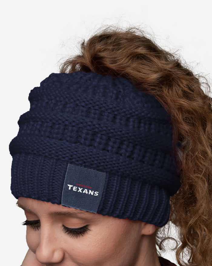 Houston Texans Womens Ponytail Beanie FOCO - FOCO.com