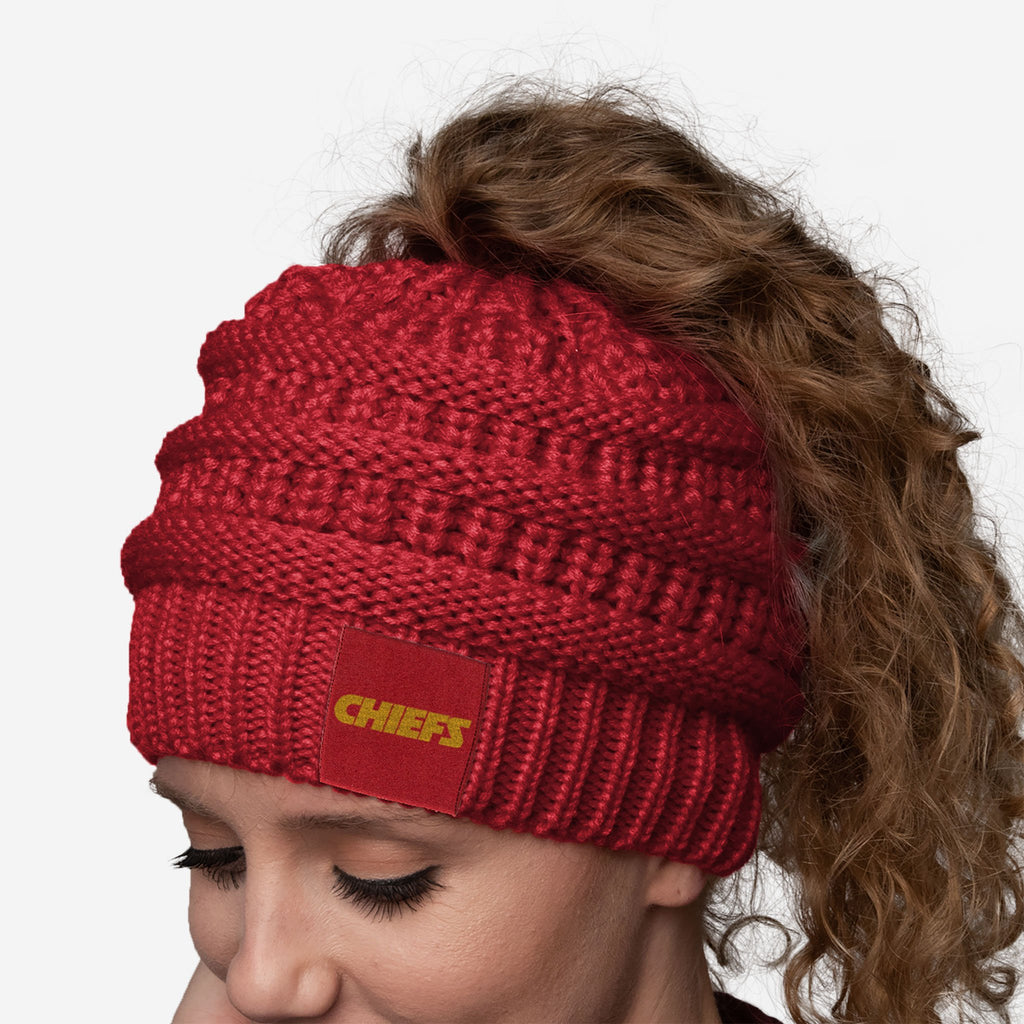 Kansas City Chiefs Womens Ponytail Beanie