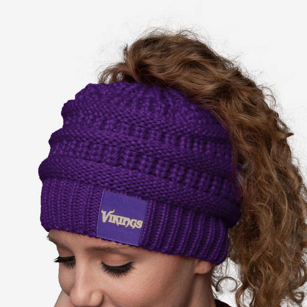 Minnesota Vikings Womens Ponytail Beanie