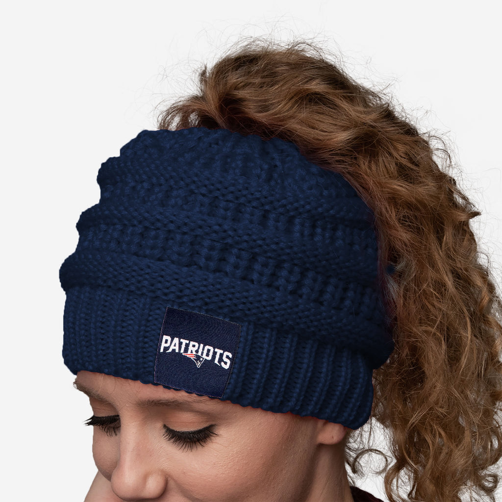 New England Patriots Womens Ponytail Beanie