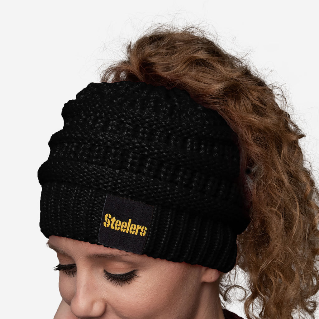 Pittsburgh Steelers Womens Ponytail Beanie