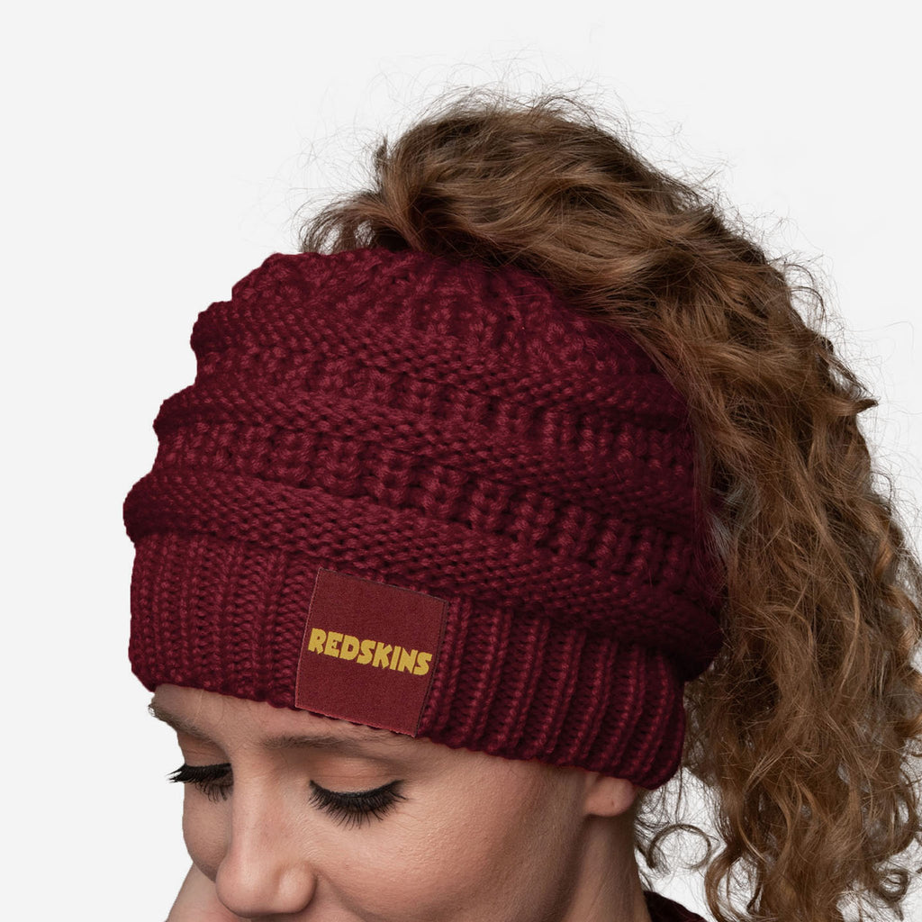 Washington Redskins Womens Ponytail Beanie