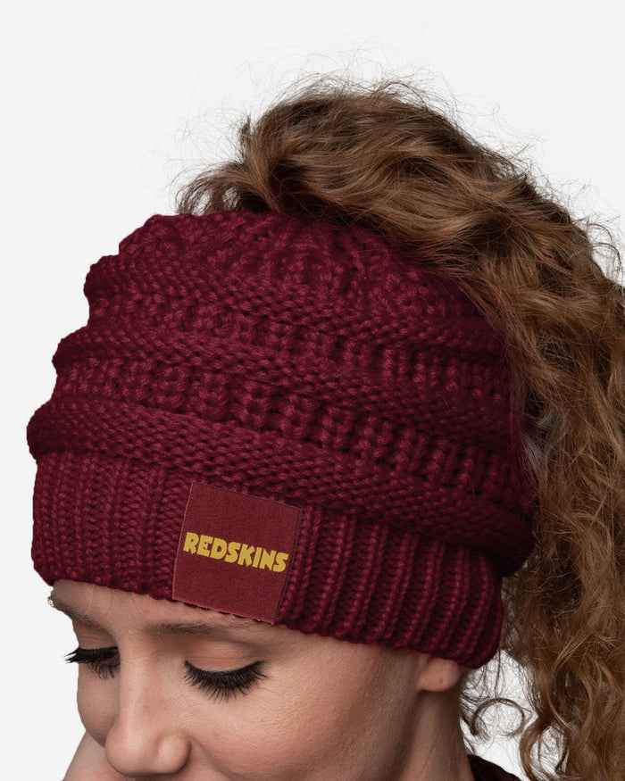 Washington Redskins Womens Ponytail Beanie FOCO - FOCO.com