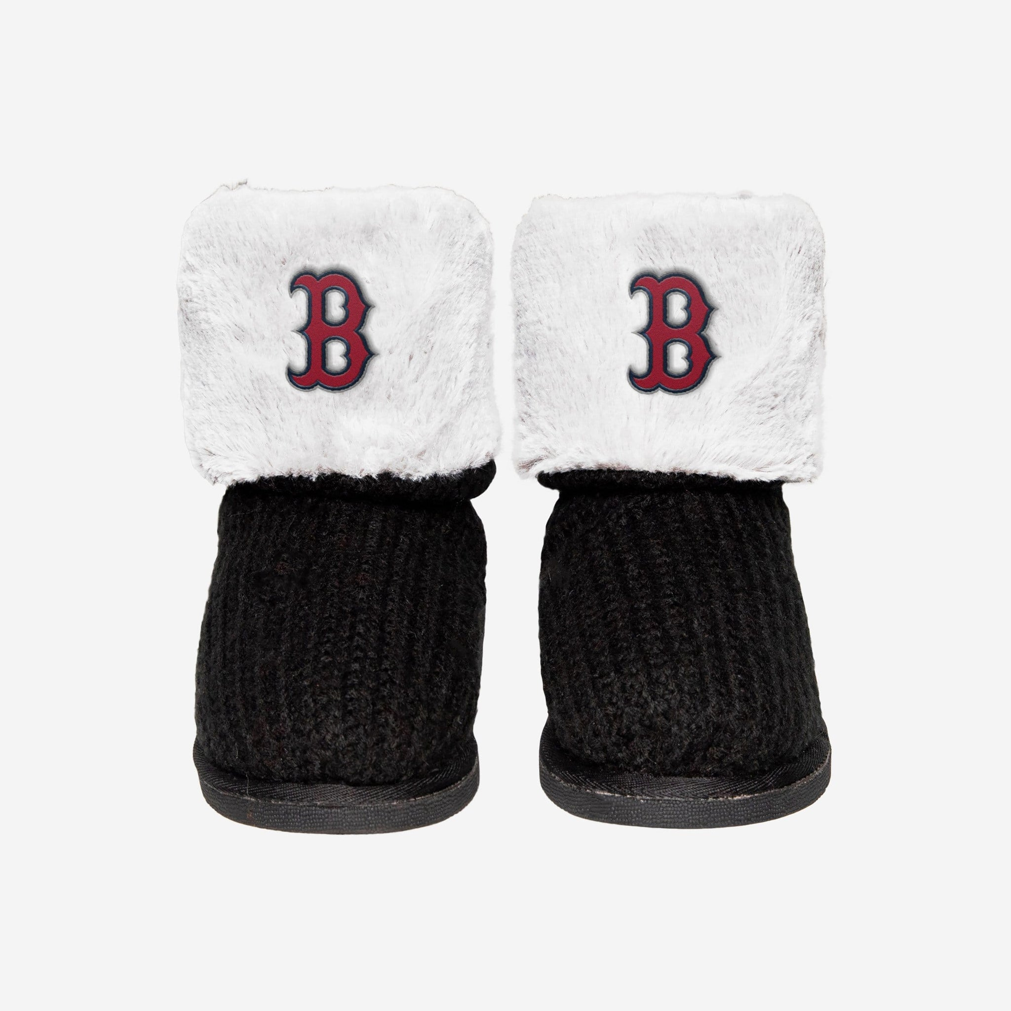 Boston Red Sox Knit High End Button Boot Slipper