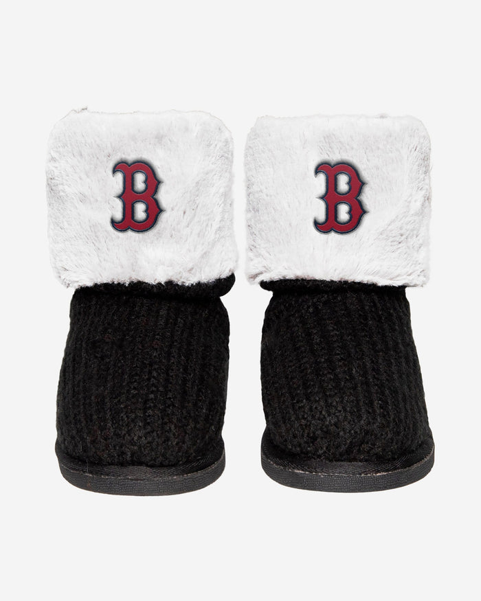 Boston Red Sox Knit High End Button Boot Slipper FOCO - FOCO.com