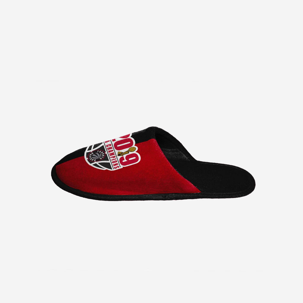 Toronto Raptors 2019 NBA Champions Colorblock Slide Slipper FOCO - FOCO.com