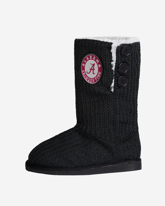 Alabama Crimson Tide Knit High End Button Boot Slipper FOCO - FOCO.com