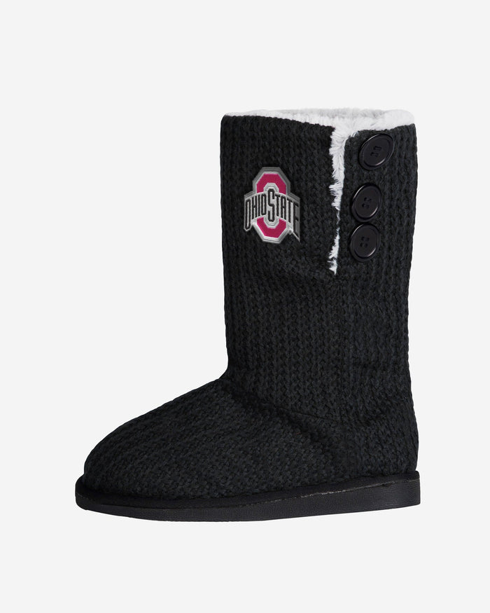 Ohio State Buckeyes Knit High End Button Boot Slipper FOCO - FOCO.com
