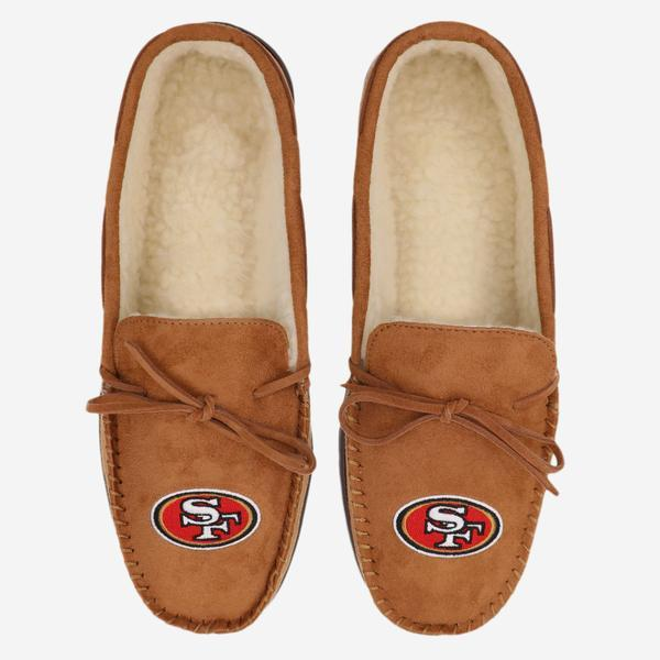 San Francisco 49ers Moccasin Slipper FOCO - FOCO.com