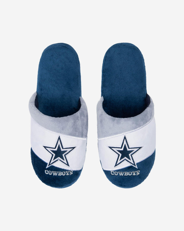 Dallas Cowboys Youth Colorblock Slide Slipper FOCO S - FOCO.com