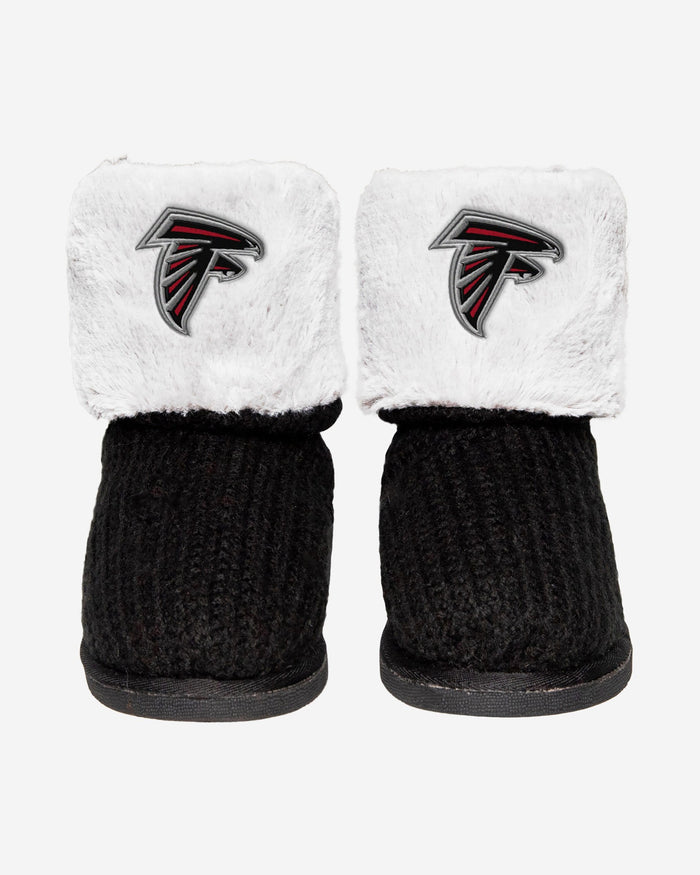 Atlanta Falcons Knit High End Button Boot Slipper FOCO - FOCO.com