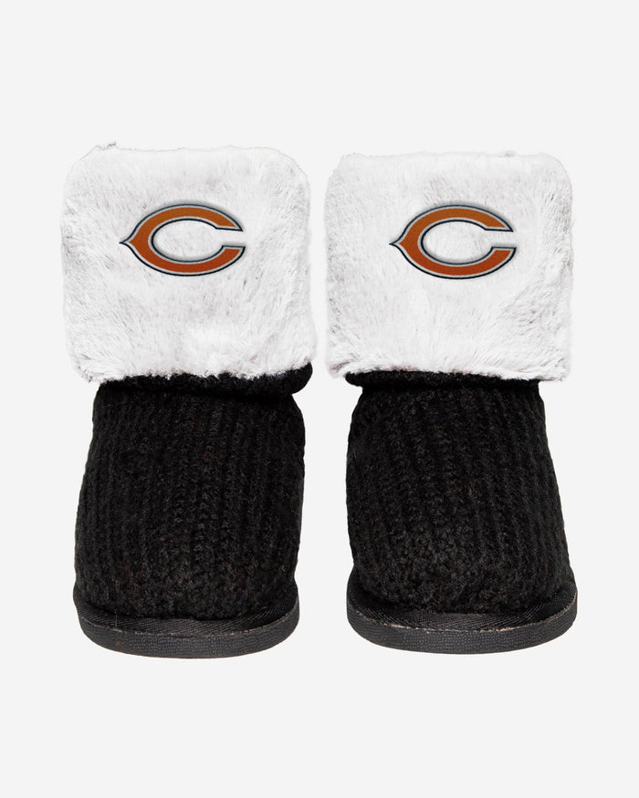 Chicago Bears Knit High End Button Boot Slipper FOCO - FOCO.com