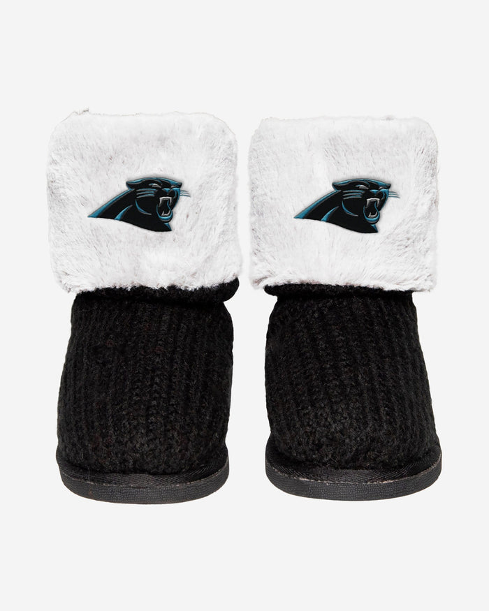 Carolina Panthers Knit High End Button Boot Slipper FOCO - FOCO.com
