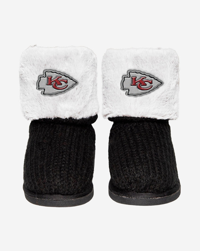 Kansas City Chiefs Knit High End Button Boot Slipper FOCO - FOCO.com