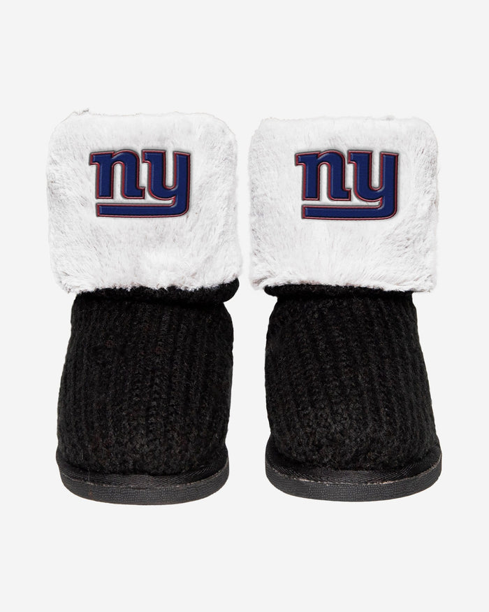 New York Giants Knit High End Button Boot Slipper FOCO - FOCO.com