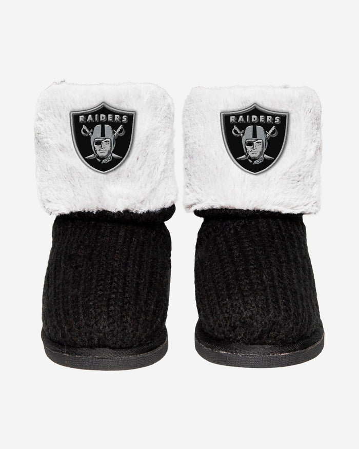 Las Vegas Raiders Knit High End Button Boot Slipper FOCO - FOCO.com