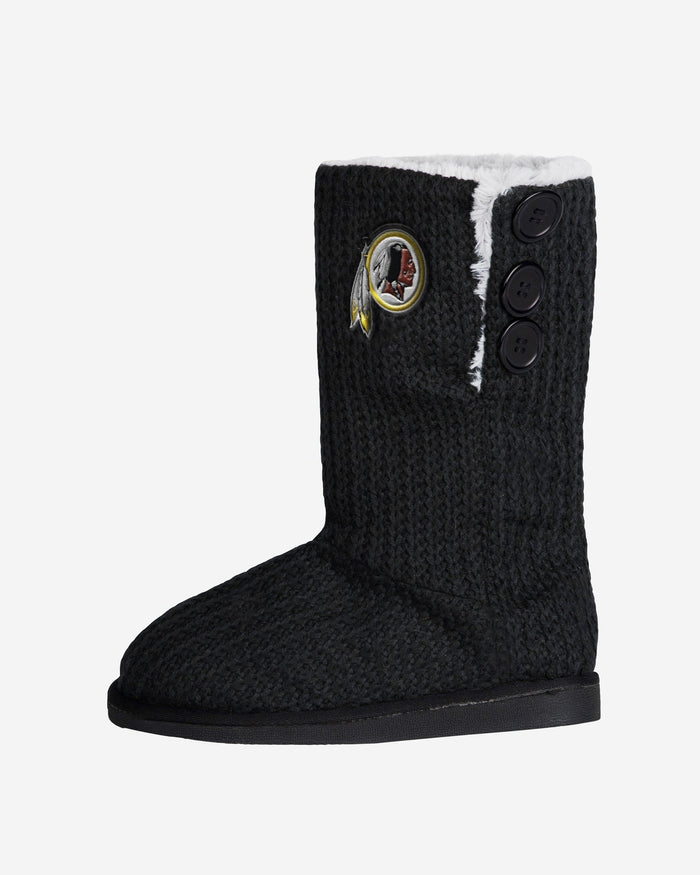 Washington Redskins Knit High End Button Boot Slipper FOCO - FOCO.com