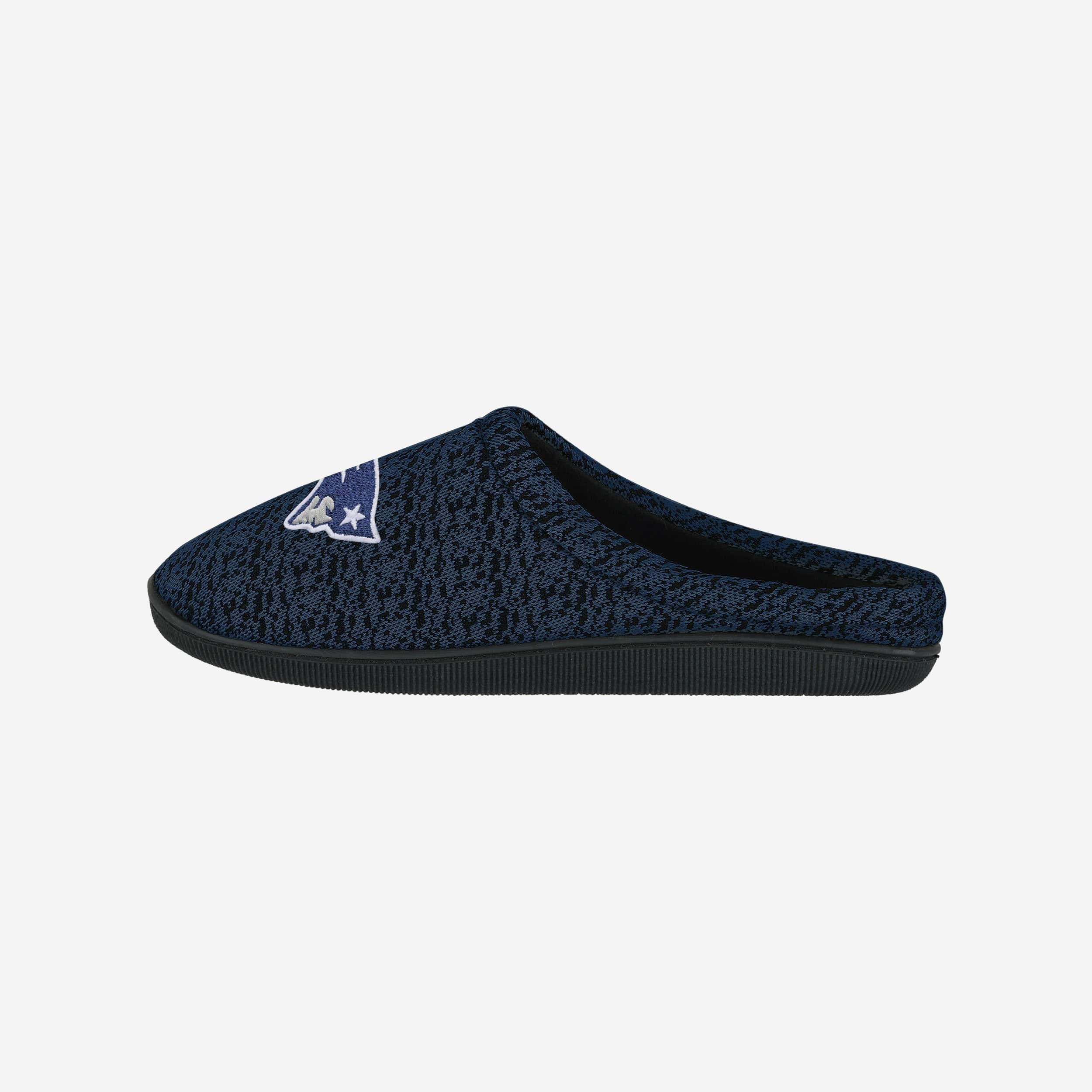 dc5bf3c5f81 New England Patriots Poly Knit Cup Sole Slipper FOCO.com