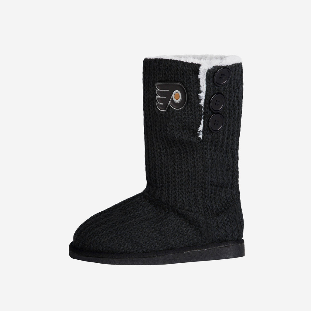 Philadelphia Flyers Knit High End Button Boot Slipper