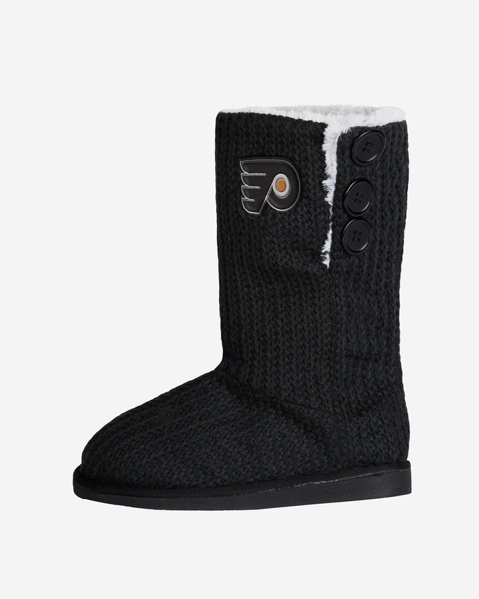 Philadelphia Flyers Knit High End Button Boot Slipper FOCO - FOCO.com