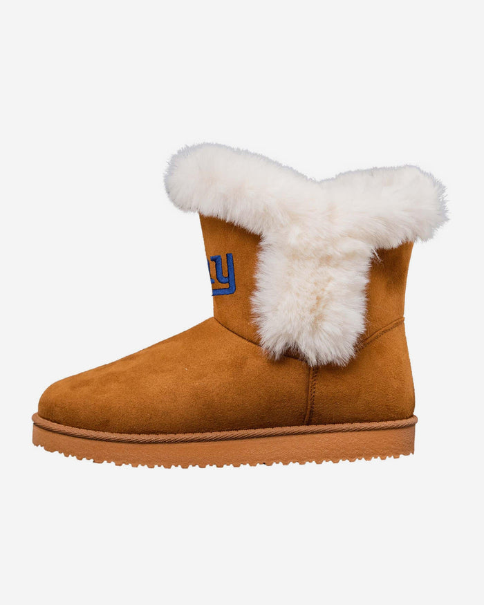 New York Giants Womens White Fur Boots FOCO 6 - FOCO.com
