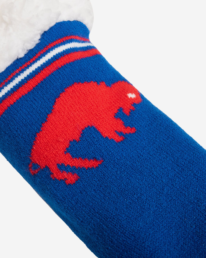 Buffalo Bills Womens Retro Stripe Logo Tall Footy Slipper Socks FOCO - FOCO.com