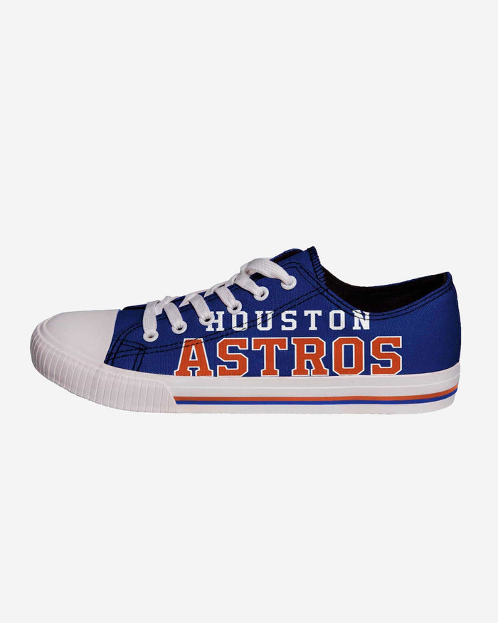 Houston Astros Mens Low Top Big Logo Canvas Shoe FOCO - FOCO.com